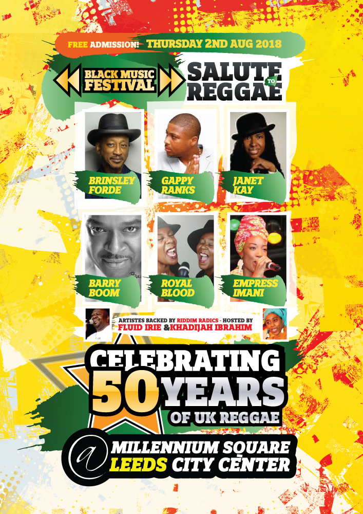 Salute To Reggae 2018 Formerly known as the Leeds Reggae Concert